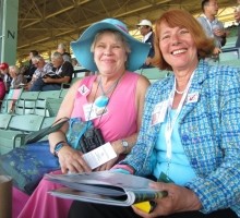 Trina Nagele (Southern California) and Sue Noel (Sun Valley ID) in the Zenyatta section