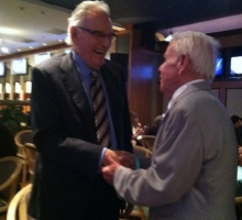 Ralph Wells meeting Mr. Jerry Moss. Photo: Shari Bradshaw