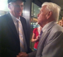 John Shirreffs and Ralph Wells talking Zenyatta! Photo: Shari Bradshaw