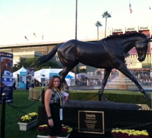 Madison Ribeiro at Breeders Cup to watch the winner of the Zenyatta Stakes, Love And Pride.