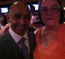 Cherie got to meet Mike Smith at the Zenyatta party. Photo: Robin Wasco