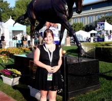 Tiffany Vaughn at the 2012 Breeders Cup in front of Zenyatta :)