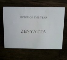 This is the actual card used when announcing the 2010 HORSE OF THE YEAR…Photo by Ann Moss