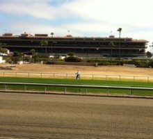 Ah...Del Mar! I remember it so well!  They are getting ready for their opening day! First post is 2 o'clock. Photo by John Shirreffs