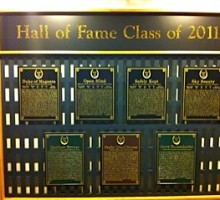 """Welcome...""""Hall of Fame Class of 2011"""". Photo by Sarah Campion"""