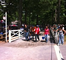 Going to the paddock at Saratoga! Photo by Sarah Campion