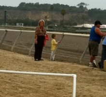 Looks who is at DEL MAR! Photo by John Shirreffs