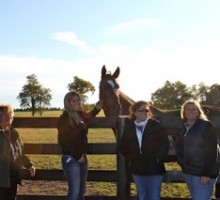 My pals from Ocala visiting with ME during the Keeneland Sale. Photo by Sarah Campion