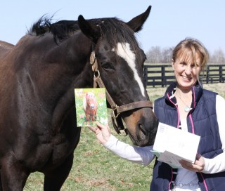 Zenyatta and her birthday cards. Photo by Alys Emson