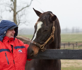 Don Lindburg with Zenyatta