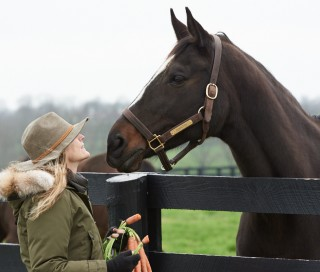 Ann with Zenyatta. Photo by Kyle Acebo.