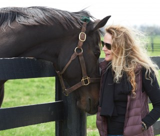Zenyatta with Ann Moss. Photo by Kyle Acebo