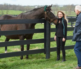 Zenyatta with her owners. Photo by Kyle Acebo.