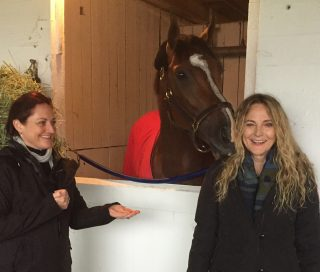 Ann Moss, right, with Gormley at Churchill Downs. Photo: Team Z.